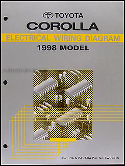1998 toyota corolla wiring diagram manual original rh faxonautoliterature com  98 corolla radio wiring diagram
