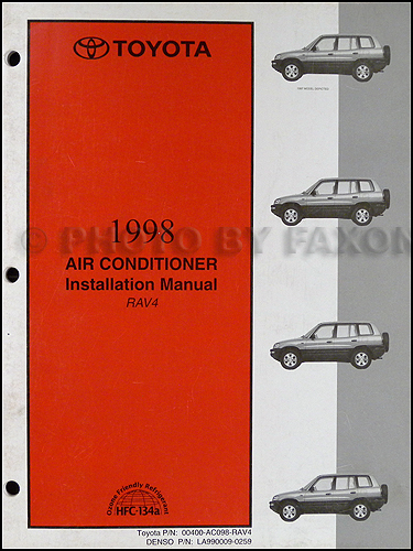 1998 Toyota Rav4 Air Conditioner Installation Manual Original