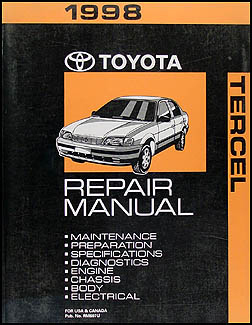 1995 1998 toyota tercel body collision repair shop manual original related products fandeluxe Images
