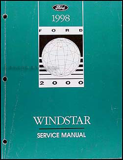 1998 ford windstar repair shop manual original. Black Bedroom Furniture Sets. Home Design Ideas