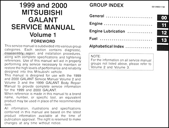 1999 2000 mitsubishi galant repair shop manual set original rh faxonautoliterature com 2000 Mitsubishi Galant Fuse Box Diagram 2000 Mitsubishi Galant Wiring-Diagram
