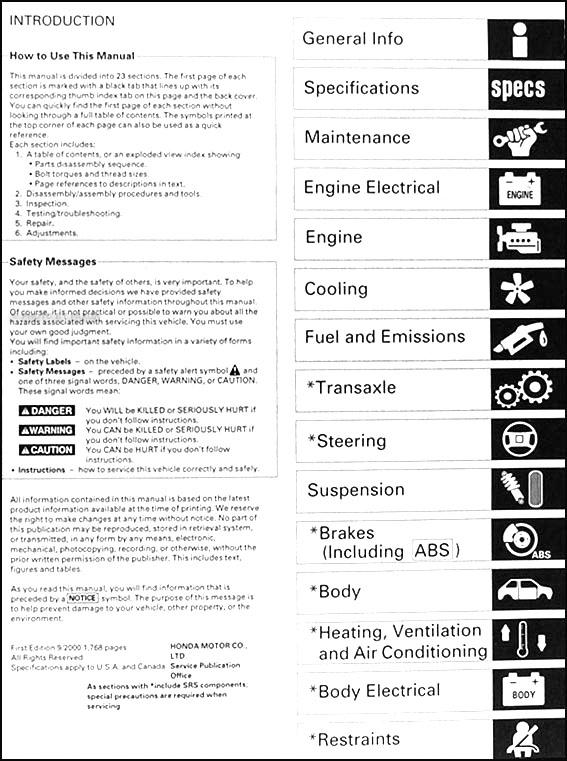 1999 2001 acura 3 2 tl repair shop manual original rh faxonautoliterature com honda pilot service manual 2004 honda pilot service manual 2003