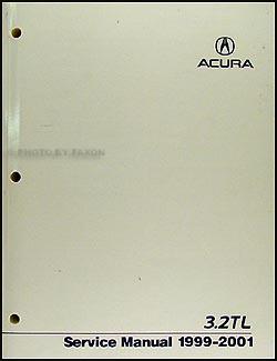 1999 2001 Acura 32 TL Repair Manual Original