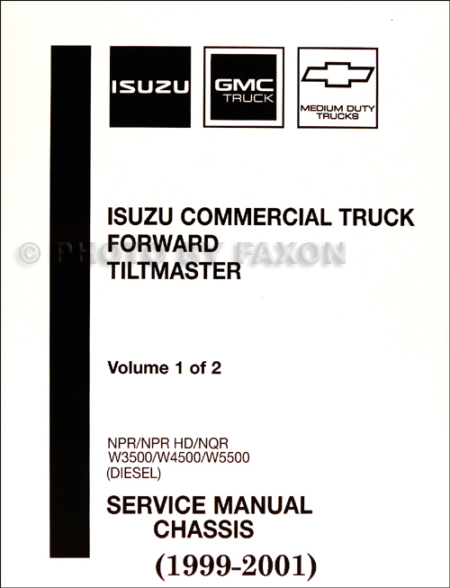 1999 2001 diesel chassis repair shop manual orig npr nqr w3500 w4500 w5500