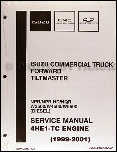 1999-2004 Diesel Engine 4HE1-TC Repair Shop Manual Isuzu NPR NQR ...