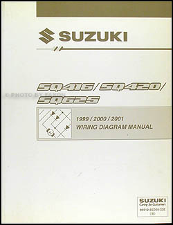 1999-2001 suzuki swift wiring diagram manual original, Wiring diagram