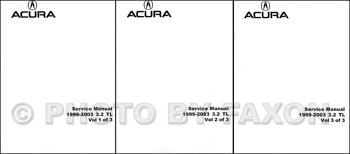 1999 2003 acura 3 2 tl repair shop manual factory reprint rh faxonautoliterature com acura mdx 2003 repair manual download acura tl 2003 repair manual pdf download