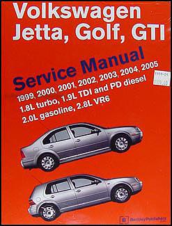 1999 2005 vw jetta golf gti bentley repair shop manual. Black Bedroom Furniture Sets. Home Design Ideas