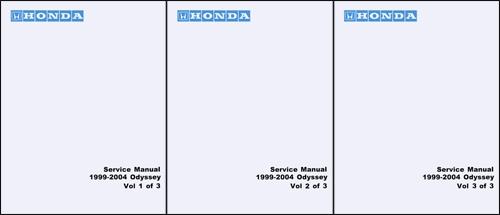 1999 2004 Honda Odyssey Repair Manual Original