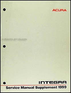1999 Acura Integra Shop Manual Original Supplement