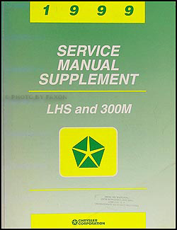 1999 chrysler lhs 300m repair shop manual original supplement rh faxonautoliterature com 1999 chrysler lhs repair manual 1999 Chrysler LHS Dash