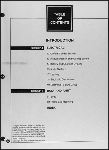 1999 lincoln continental repair shop manual original 2. Black Bedroom Furniture Sets. Home Design Ideas
