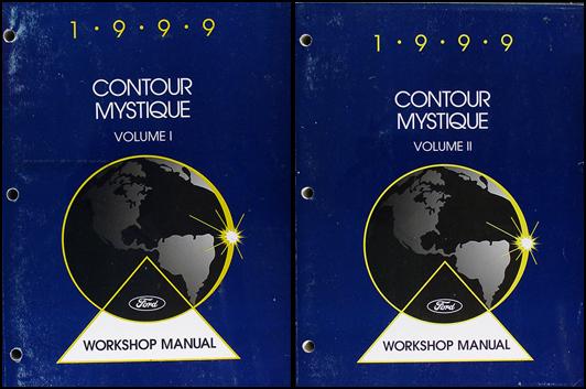 1999 Ford Contour Mercury Mystique Shop Manual Set 99