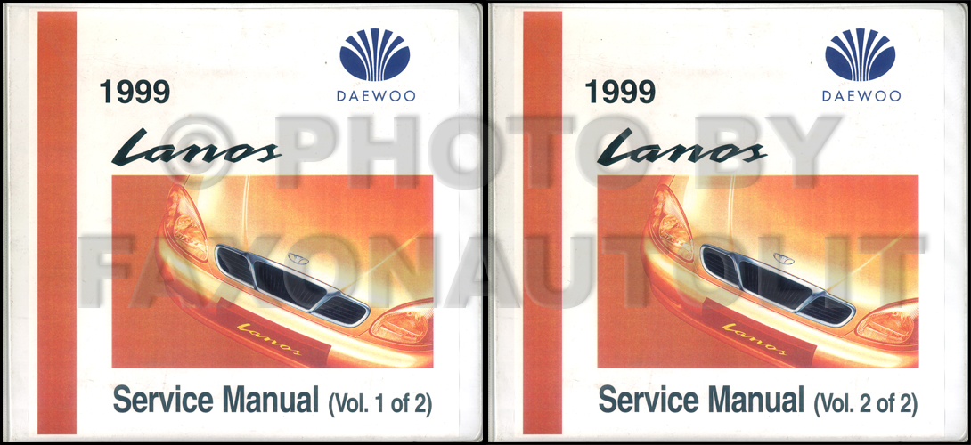 1999 daewoo lanos repair shop manual original 2 volume set. Black Bedroom Furniture Sets. Home Design Ideas