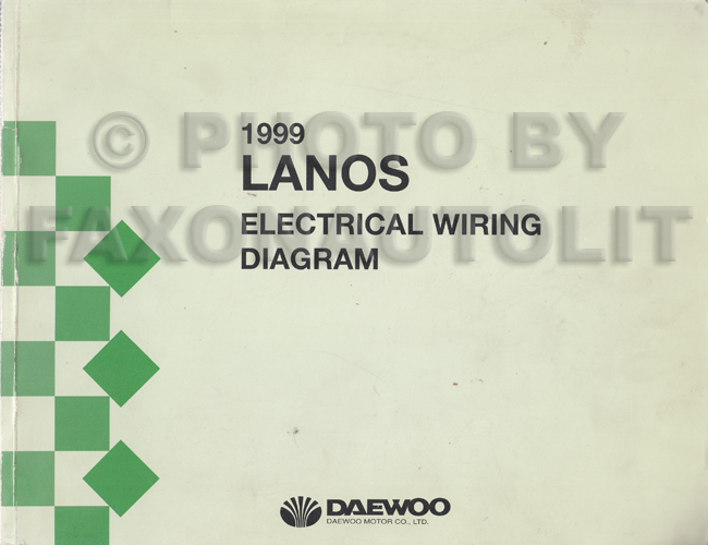 1999 daewoo lanos wiring diagram manual original. Black Bedroom Furniture Sets. Home Design Ideas