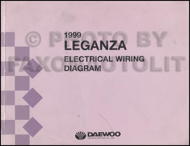 1999 daewoo leganza wiring diagram manual original rh faxonautoliterature com daewoo lanos wiring diagram daewoo nubira electrical diagram
