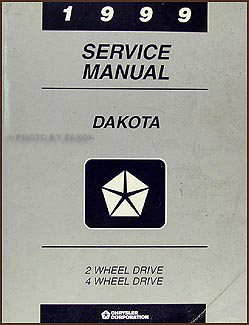 1999 Dodge Dakota Repair Manual Original
