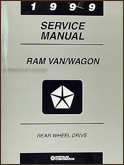 1999 Dodge Ram Van & Wagon Shop Manual Original B1500-B3500