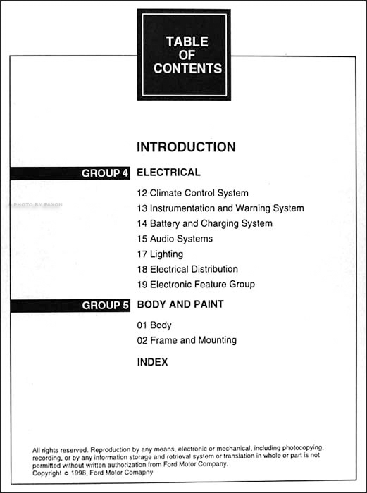 1999 Ford Explorer Mercury Mountaineer Shop Manual Set