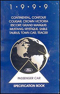 1999 Ford Taurus and Mercury Sable    Repair       Shop    Manual Original
