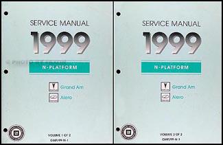 1999 pontiac grand am olds alero repair shop manual original 2 rh faxonautoliterature com 1999 pontiac grand am manual 1999 pontiac grand am repair manual pdf