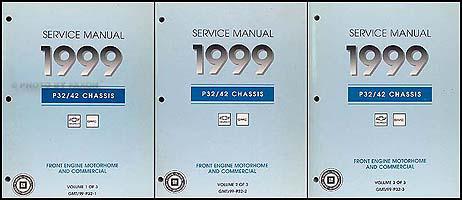 1999 P32 P42 Stepvan & Motorhome Chassis Repair Shop Manual Set Original