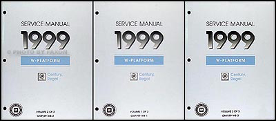 1999 buick regal century repair shop manual original 3 volume set rh faxonautoliterature com 1999 Buick Regal Engine Twin Turbo Buick Regal 1999