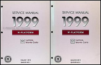 1999 chevy lumina monte carlo repair shop manual original 2 volume set rh faxonautoliterature com 2000 Chevrolet Tahoe 2006 Chevrolet Tahoe