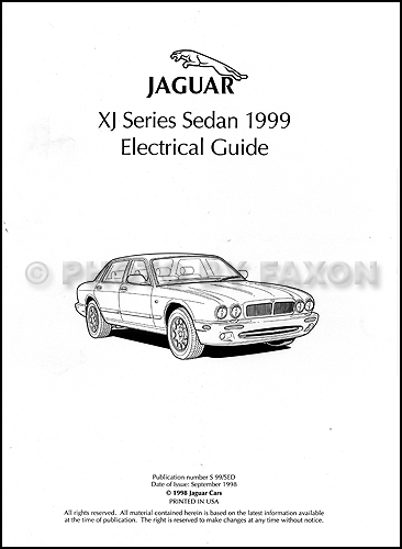 1999 jaguar xj8 electrical guide wiring diagram original rh faxonautoliterature com 2003 Jaguar Cars Black Sedan 1995 2006 Jaguar Car Colors