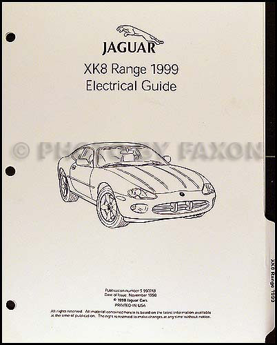 1999 jaguar xk8 electrical guide wiring diagram original rh faxonautoliterature com jaguar xk8 wiring diagram jaguar xk8 seat wiring diagram