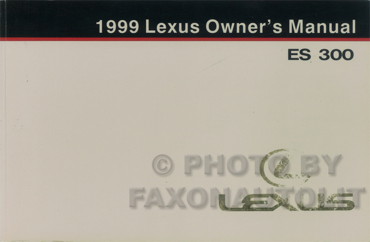 1999 lexus es 300 wiring diagram manual original. Black Bedroom Furniture Sets. Home Design Ideas