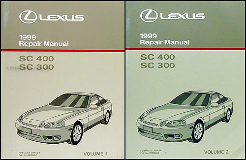 1999 lexus sc 300 sc 400 repair shop manual original 2 volume set rh faxonautoliterature com lexus sc 400 repair manual 1997 lexus sc400 repair manual pdf