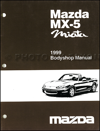 1999 mazda mx 5 miata body shop manual original