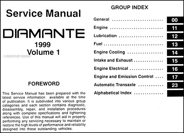 1999 mitsubishi diamante repair shop manual set original rh faxonautoliterature com 2002 Mitsubishi Diamante Interior 2006 Mitsubishi Diamante