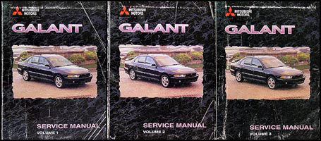 1999 mitsubishi galant repair shop manual 3 volume set original rh faxonautoliterature com 2007 Mitsubishi Galant Repair Manual 1999 mitsubishi galant repair manual pdf