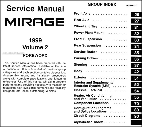 1999 mitsubishi mirage repair shop manual set original rh faxonautoliterature com 1999 mitsubishi mirage radio wiring diagram 1999 mitsubishi mirage radio wiring diagram