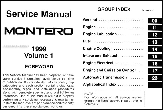service manual instruction for a 1999 mitsubishi montero. Black Bedroom Furniture Sets. Home Design Ideas