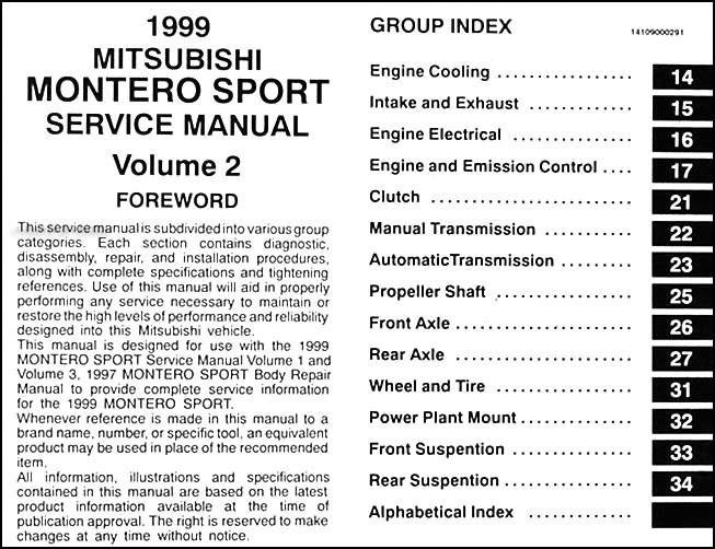 mitsubishi shop manual free download