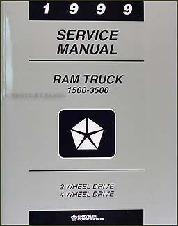 1999 dodge ram truck repair shop manual original 1500 2500. Black Bedroom Furniture Sets. Home Design Ideas