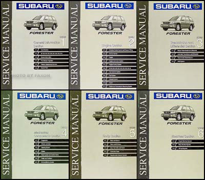 1999 subaru forester repair shop manual original 6 volume set rh faxonautoliterature com 1999 subaru forester owners manual pdf 2001 Forester