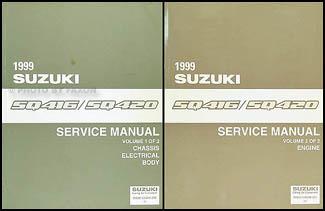 1999 suzuki vitara repair shop manual set original rh faxonautoliterature com Grand Vitara Maroon 1999 1999 Grand Vitara Repair Manual