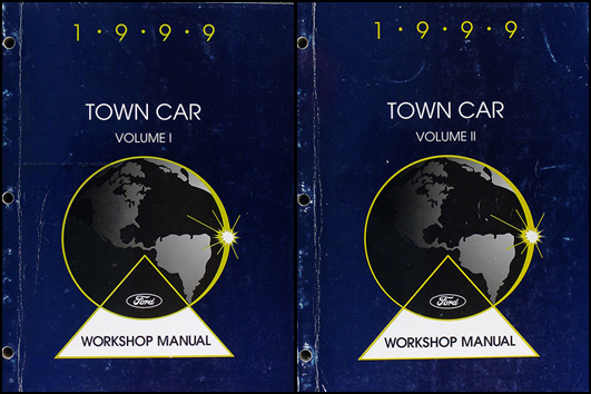 lincoln town car original wiring diagrams 1999 lincoln town car repair shop manual original 2 volume set