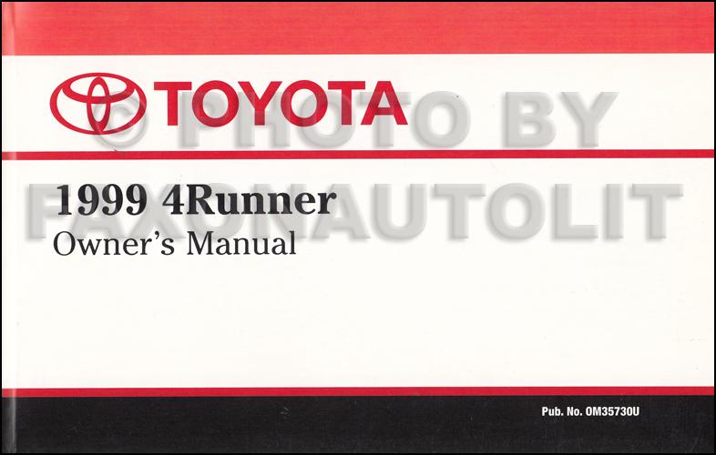 1999 toyota 4runner owner s manual original rh faxonautoliterature com 1999 toyota 4runner limited owners manual 2013 Toyota 4Runner Cargo Cover