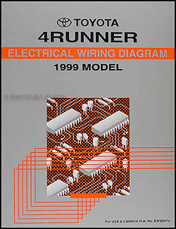 1999 toyota 4runner wiring diagram manual original