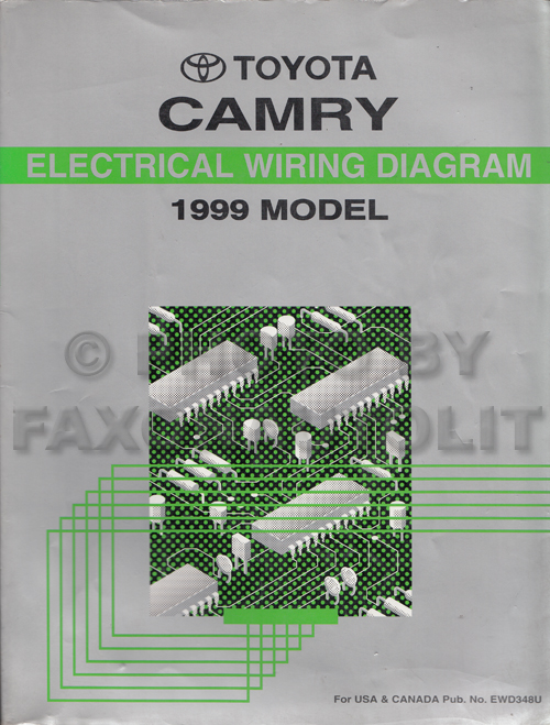 1999 Toyota Camry Wiring Diagram Manual Original