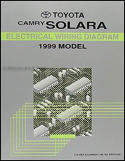 1999       Toyota       Camry    Solara    Wiring       Diagram    Manual Original