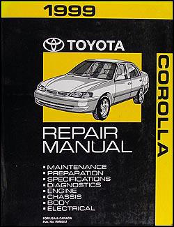 1999 Toyota Corolla Wiring Diagram Manual Original