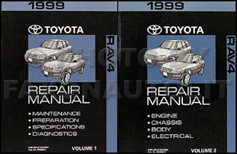 New 1999 Toyota Rav4 Shop Manual 2 Volume Set Original