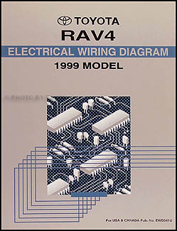 1999 Toyota RAV4 Wiring Diagram Manual Original