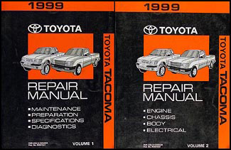 1999 toyota tacoma repair shop manual original set rh faxonautoliterature com 1999 toyota tacoma repair manual pdf 1995 Toyota Tacoma Repair Manual